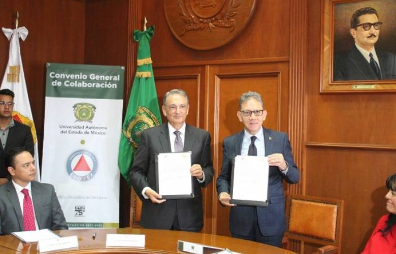 Firman convenio Uaeméx y GEM para salvaguardar la integridad de los mexiquenses